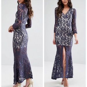 NWT ASOS sexy lace midi dress